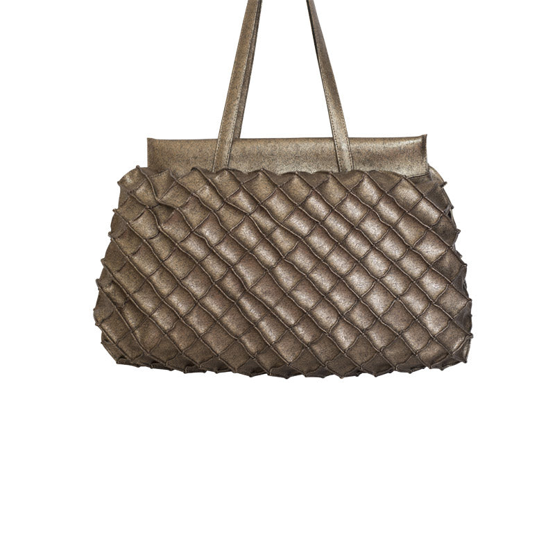 Fuscra Pinapple Bronze Bag bronze