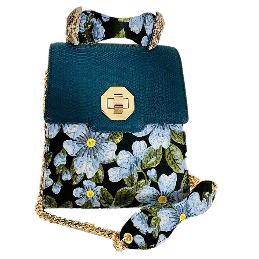 Kristina C Cecile Tall Box Medium blue Flora blue