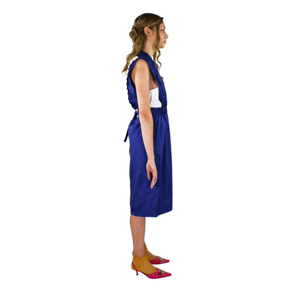 Hannah Dress - Giovanna Quaratino. Unique garment made with original fabrics from the 70s and 80s. Handcrated in Italy.