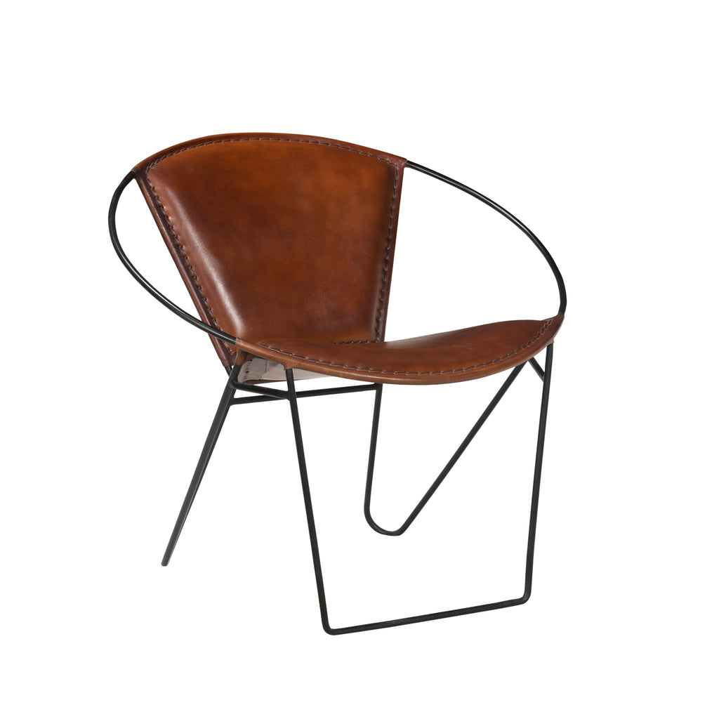 Safari Chair, Tan Leather