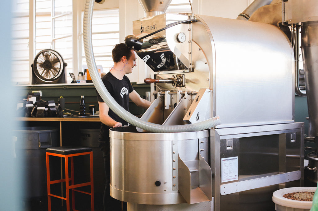 Coffee Roasting, Loring Roaster,