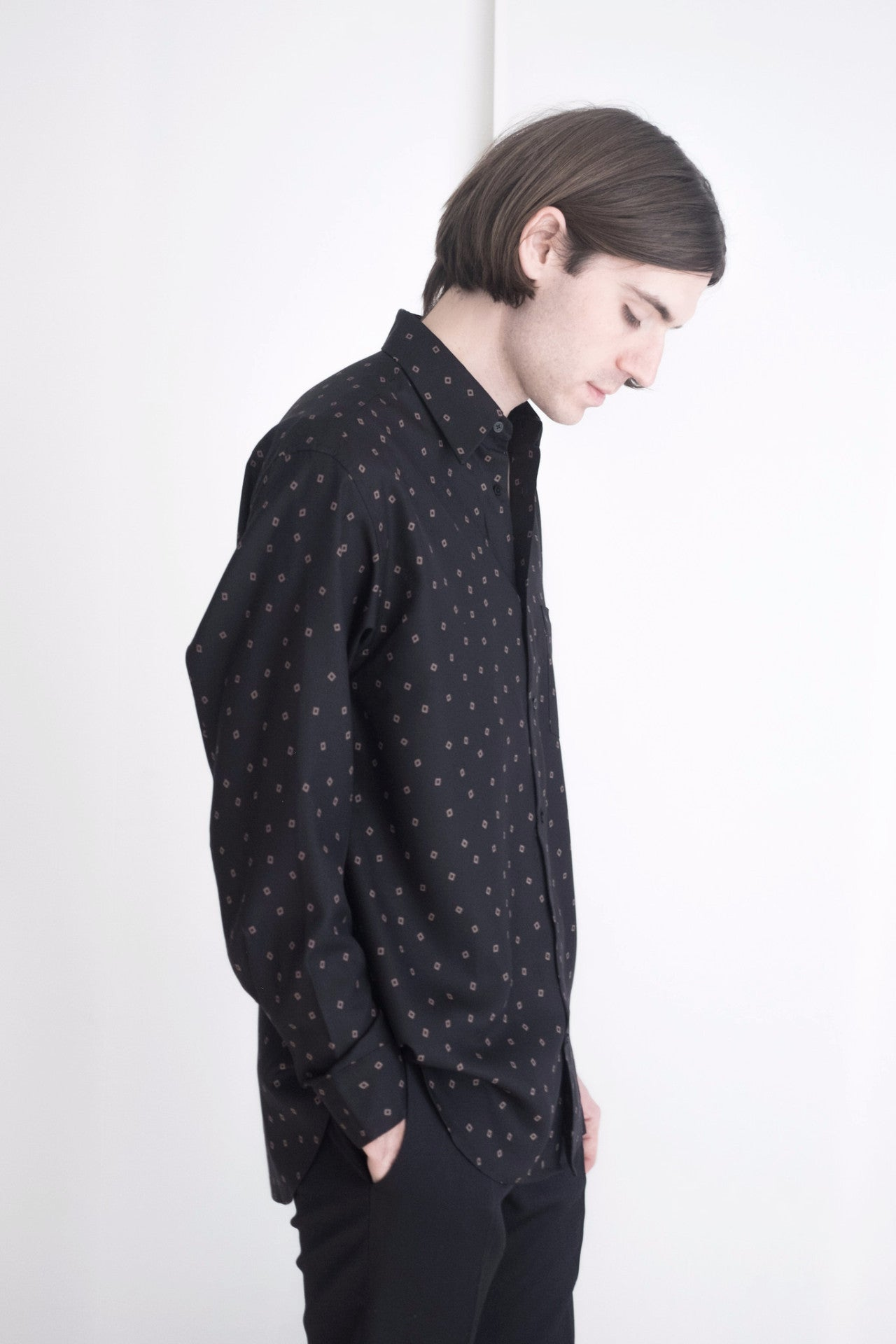 Black Hallow Square Dress Shirt