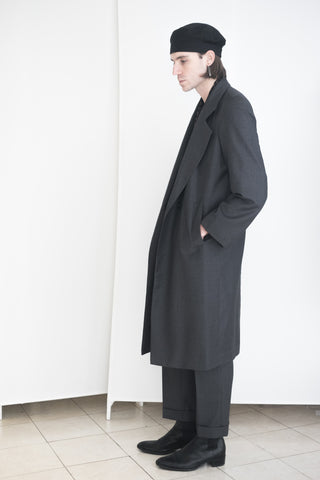 Long Boy Trench Charcoal