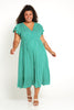 Sarah Dress - Green Gingham