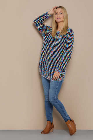 All Sorts Knit Jumper - Blue/Multi