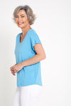 Eadie Bamboo Top - Sky Blue