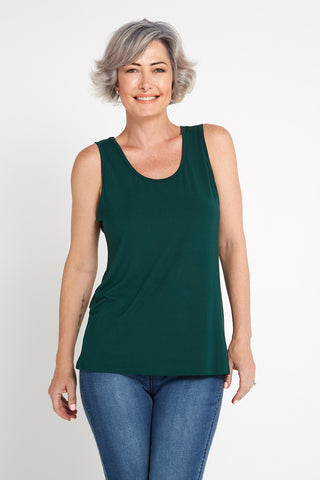 Bamboo Tank Top - Forest Green