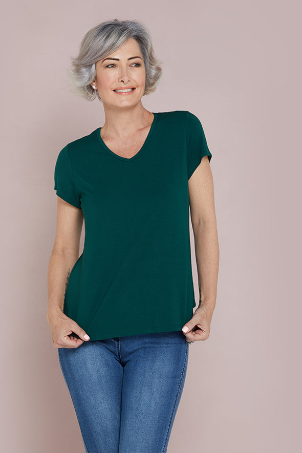Bamboo Tee - Forest Green