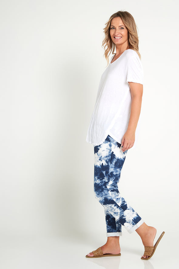 Briana Pants - Denim Tie Dye