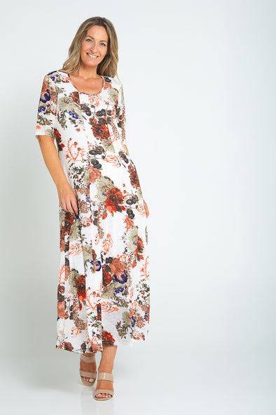 Rafaela Maxi Dress - Autumn Floral