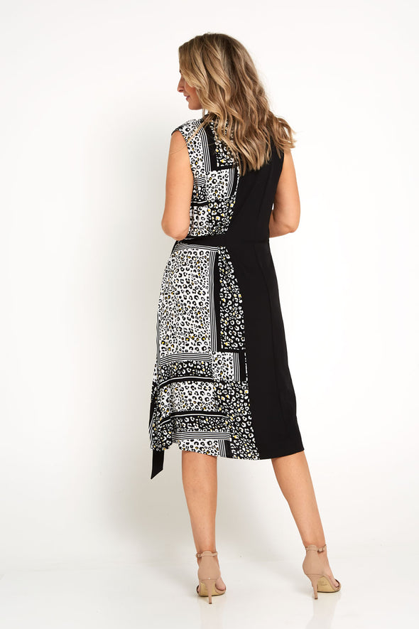 Lucy Splice Wrap Dress - Cheetah