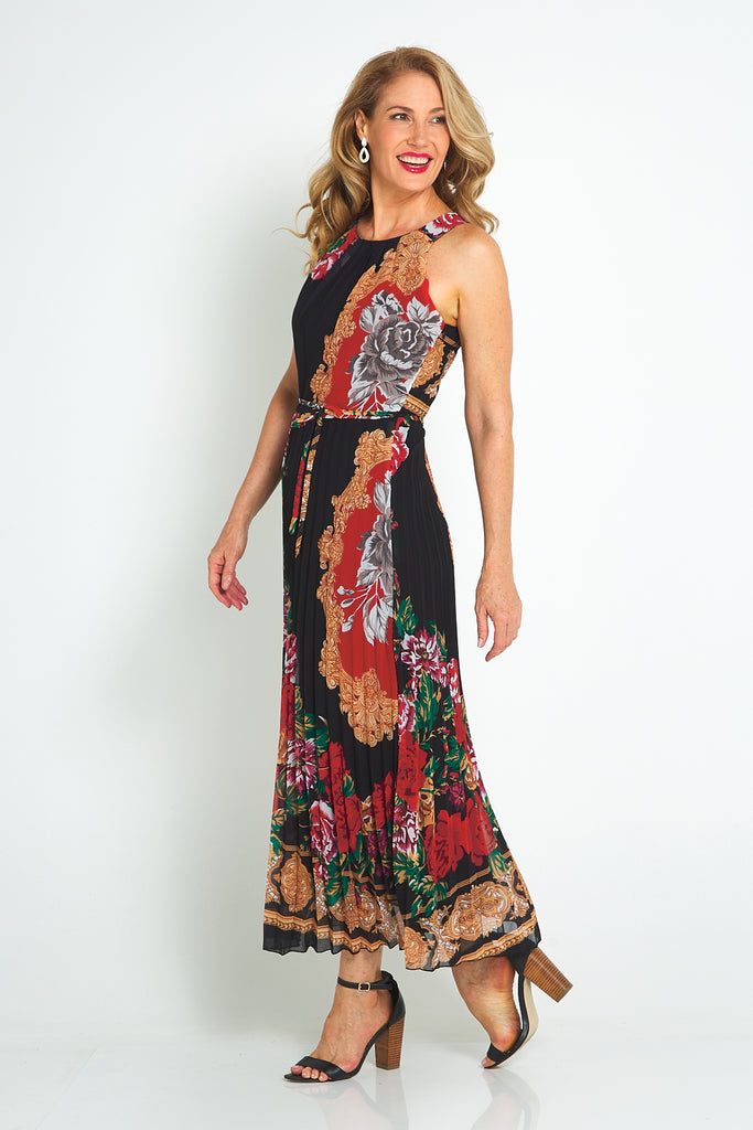 Versana Dress - Black/Red