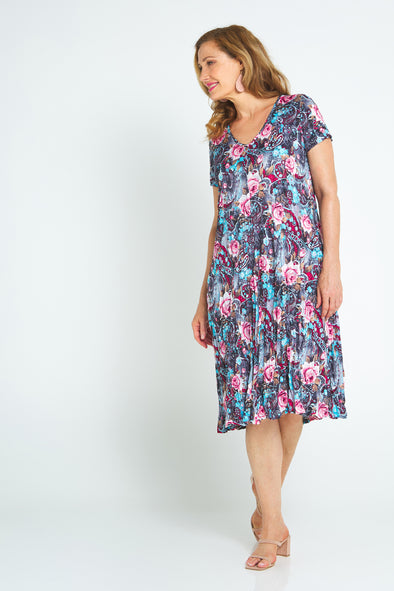 Stella Dress - Moody Rose