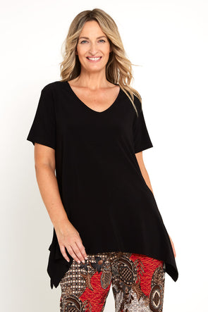 Andrea V Top - Black