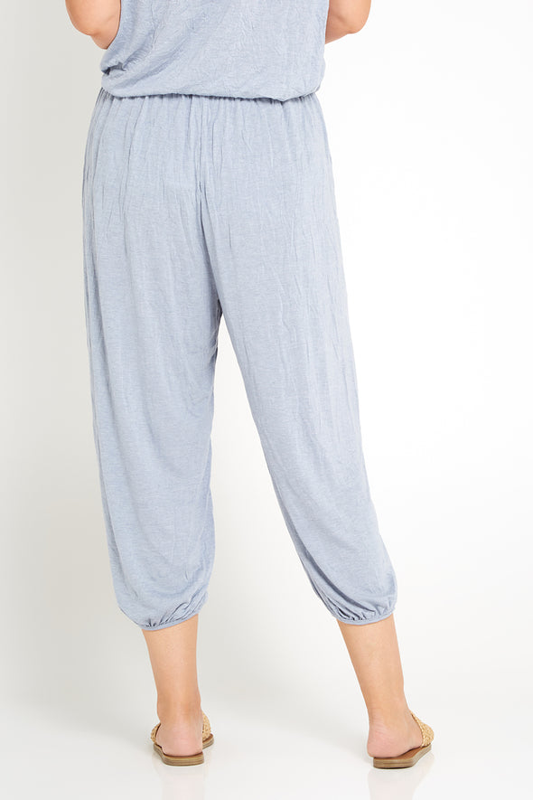 Esmeralda Pants - Pale Blue Marle