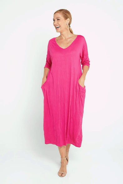 Elvira Dress - Hot Pink
