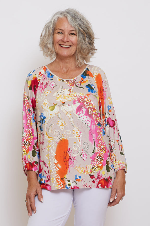 Raleigh Top - Paisley Floral Dream
