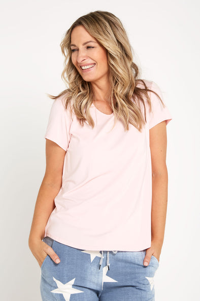 Bamboo Tee - Baby Pink