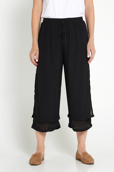 Liana Cropped Pants - Black