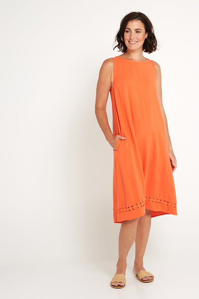 Becky Dress - Coral