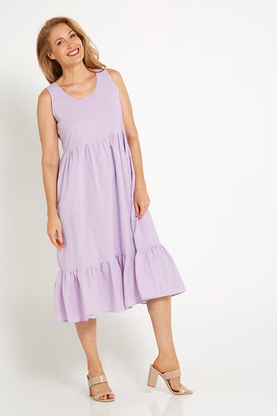 Samaire Cotton Dress - Lilac