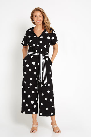 Minnie Jumpsuit - Black/Spot