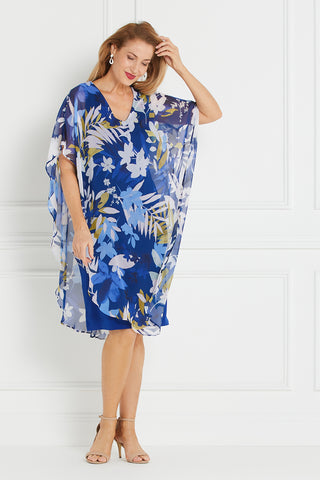 Soirée Dress - Royal Floral