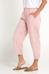 Ailana Linen Pants - Dusty Pink