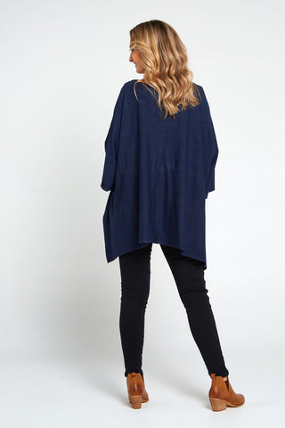 Marcy Knit Top - Navy