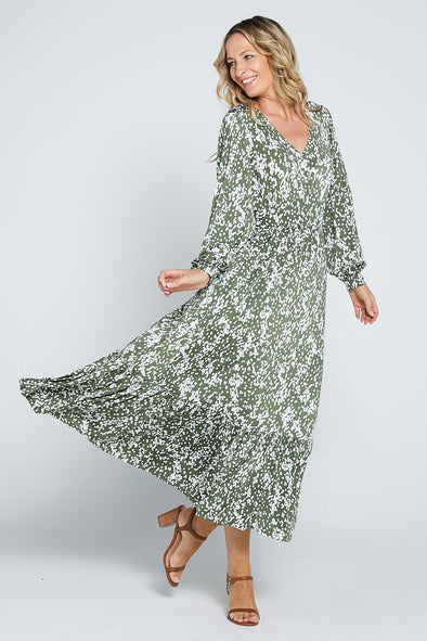 Mylah Dress - Olive Grove