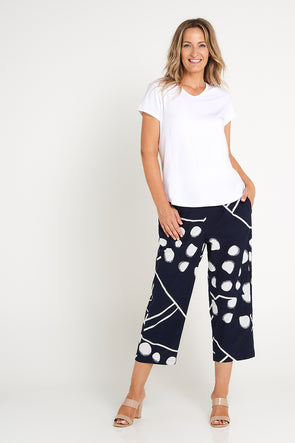 Myra Pants - Navy Spot