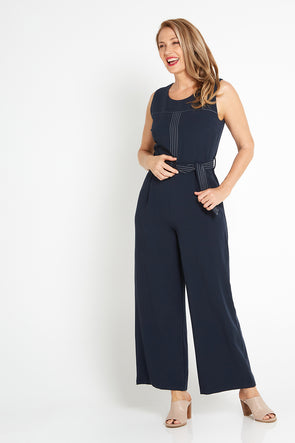 Raven Jumpsuit - Navy