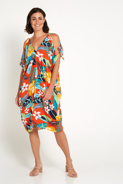 Solar Kaftan - Orange Tropical