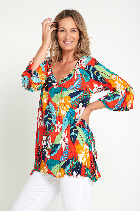 Zanvil Tunic - Tropical Tangelo