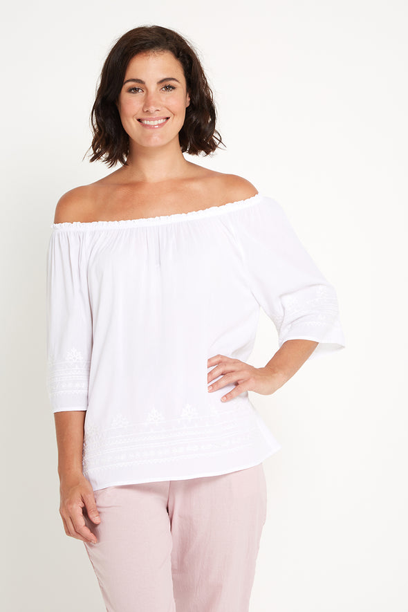 Sea Breeze Top - White
