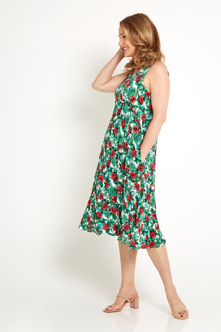 Angie Dress - Jade Hibiscus
