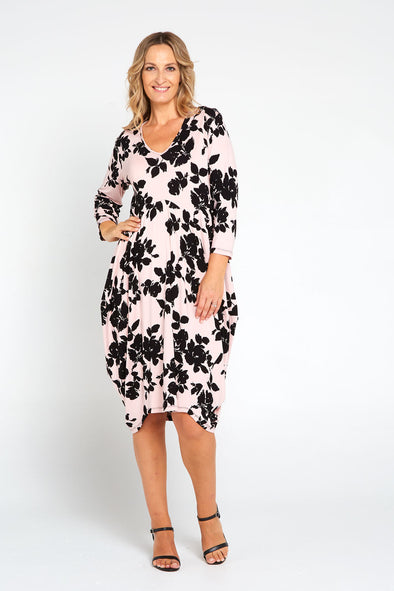 Renee Bounce Dress - Dusty Pink