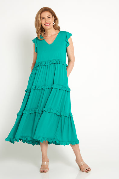 Bridgette Dress - Jade Green