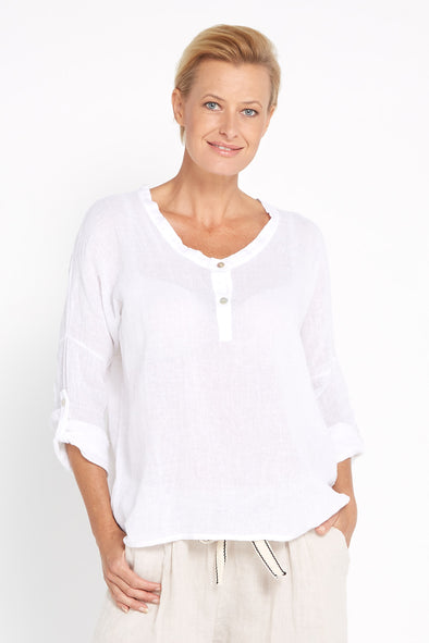 Sorrento Top - White