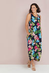 Rita Dress - Navy Tropical