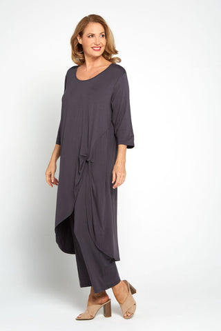 Ayana Smooth Tunic - Charcoal