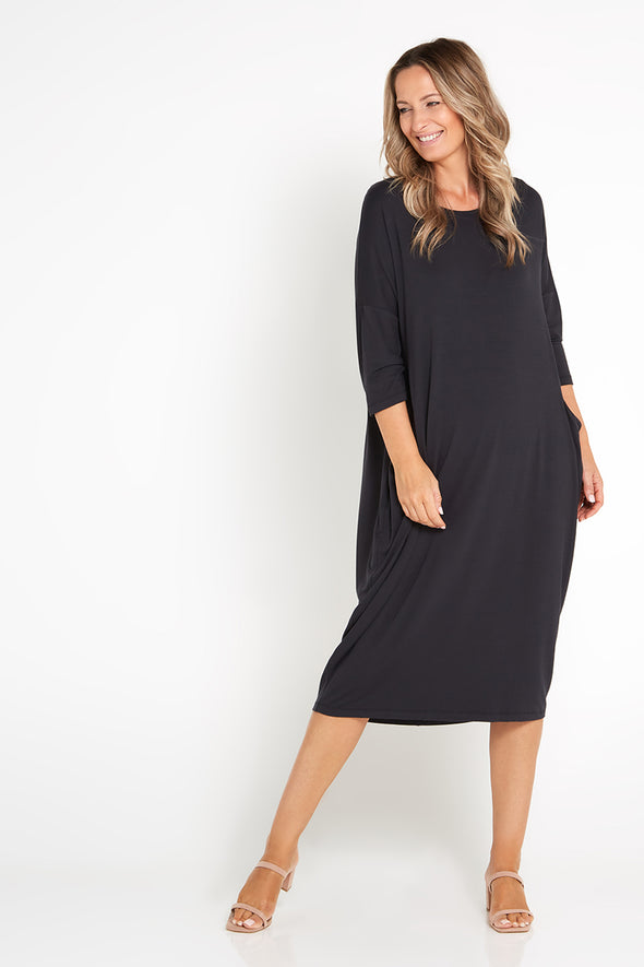 Mornington Dress - Charcoal