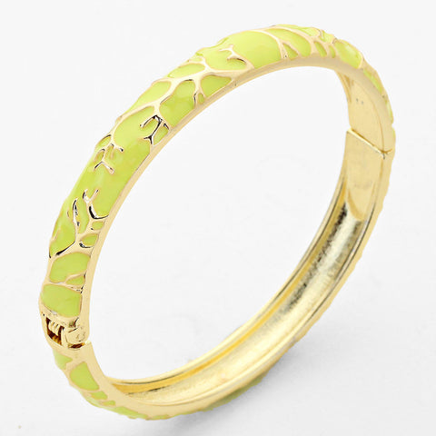 Enamel Bangle Bracelet Lime