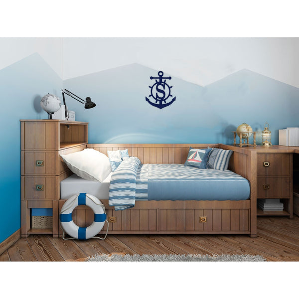 Anchor Wood Monogram-Home Goods-PinkandLulu.com