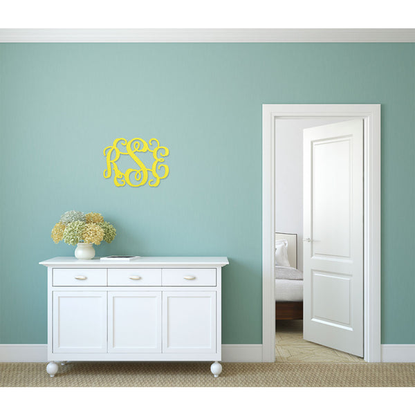 "3 Initial Wood Monogram 14""-Home Goods-PinkandLulu.com"
