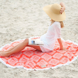 Coral Cove Sand Circle-Beach Towel-PinkandLulu.com
