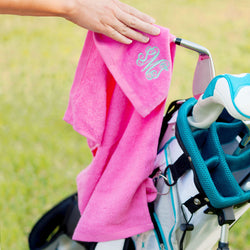 Hot Pink Golf Towel-Sports-PinkandLulu.com