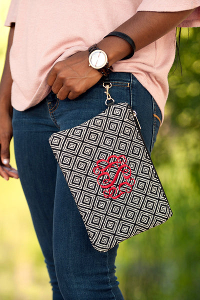 Black Diamond Everly Wristlet-Wristlet-PinkandLulu.com