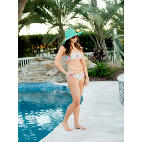 Mint Wide Brim Floppy Hat