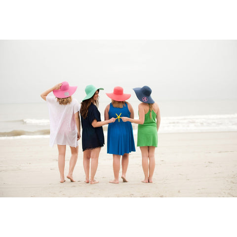 Hot Pink Wide Brim Floppy Hat